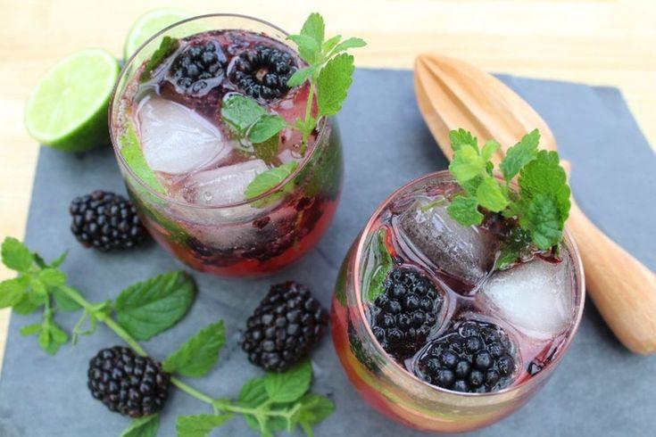 Brombær lime gin og tonic