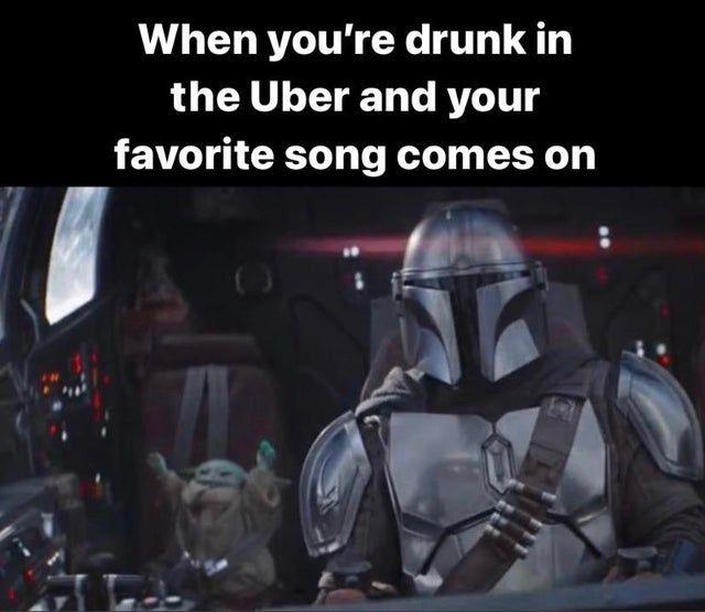 Greatest Night Ever Babyyoda Star Wars Humor Star Wars Memes Yoda Meme