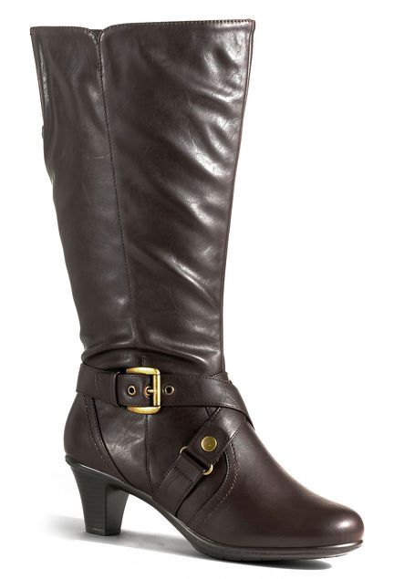 plus size boots, wide calf boots #brownboots