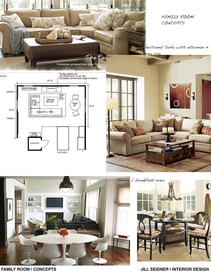 Concept Ideas For A Family Room Breakfast