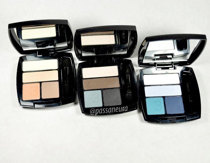 Novas paletas de sombra matte da Avon. Terra Matte, Urban Matte e Laguna Matte.