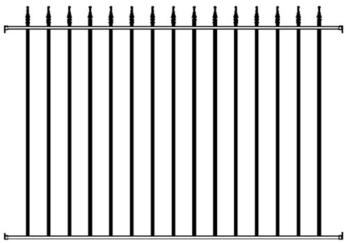 Amazing Gates presents the Arrow Wrought Iron Fence Panel constructed with hot dipped galvanized undercoat and powder coat finish. Available models include Arrow Finial Wrought Iron Fence,  Antique Wrought Iron Fence,  Arrow Wrought Iron Fence Posts,  Arr