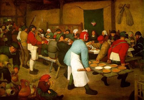 Peasant wedding, Pieter Bruegel