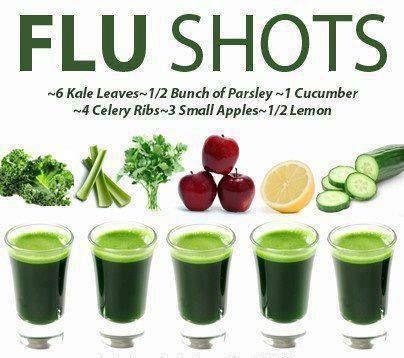 "Juicy ""Flu Shots"" Green Juice Recipe"