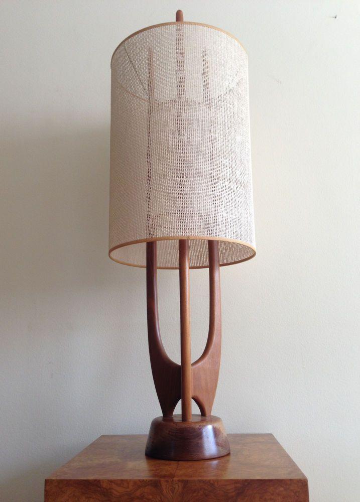 Danish Modern Sculptural Teak Lamp Mid Century V H Woolums Modeline Digs Pinterest Midcentury And