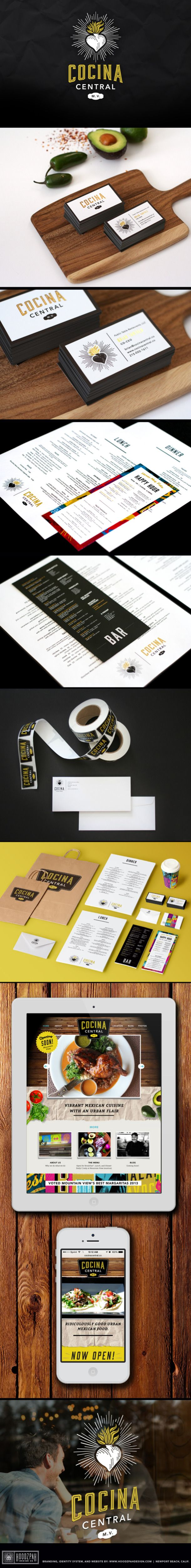 Cocina Central: Identity, Branding & Web Design by Hoodzpah Design Co.
