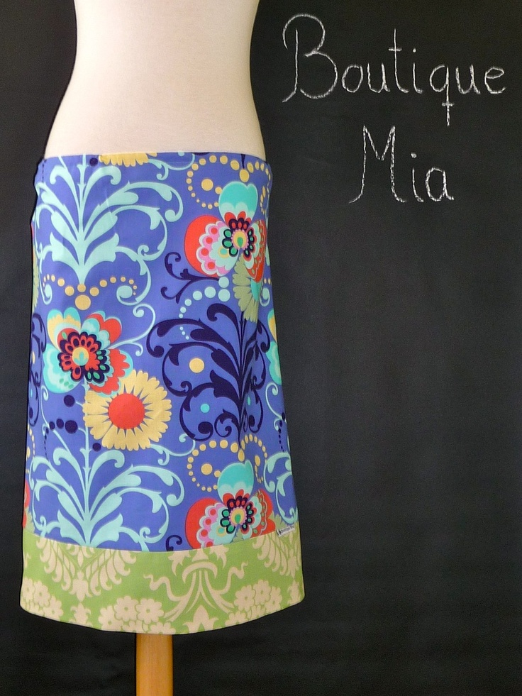 WOMEN - Pencil SKIRT - Amy Butler - You Pick the Size - Junior, Adult and Plus size - Boutique Mia by CXV. $35.00, via Etsy.