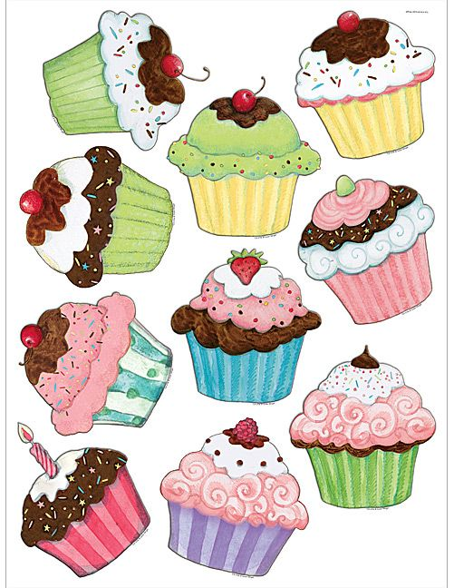 Cupcakes Accents from Susan Winget (TCR4706) « Products | Teacher Created Resources