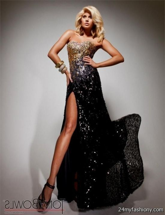 Black And Gold Prom Dresses 2016 http://www.top-dresses.com/black-and-gold-prom-dresses-2016-770/