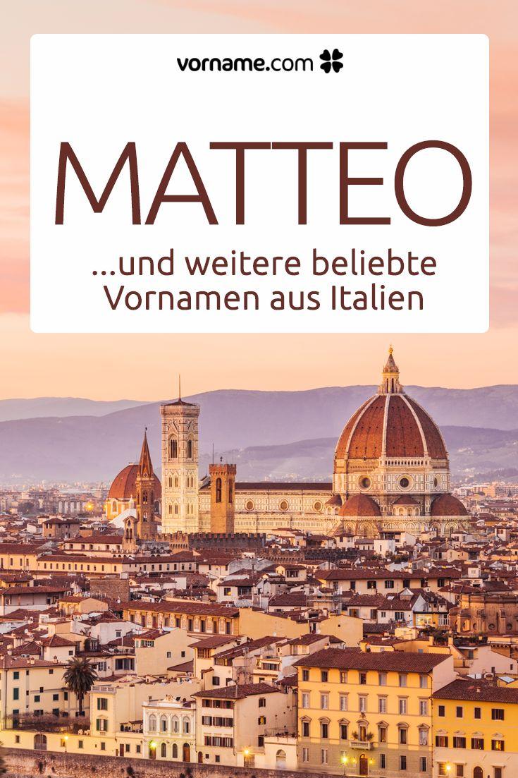 Dir gefällt der Name Matteo? Bei uns findest Du tolle italienische Vornamen für Mädchen und Jungen!