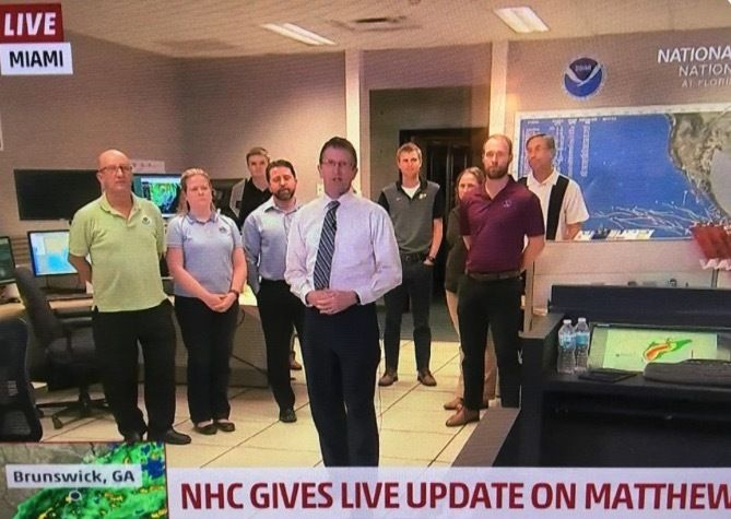 National Hurricane Center supported by a raised floor system. Thanks Natl Hurricane Ctr http://www.nhc.noaa.gov/