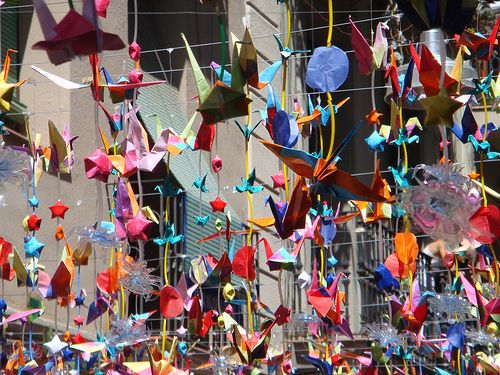 Multi-coloured, Recycled Decorations at the Fiesta de Gracia, Barcelona by Oh-Barcelona.com, via Flickr