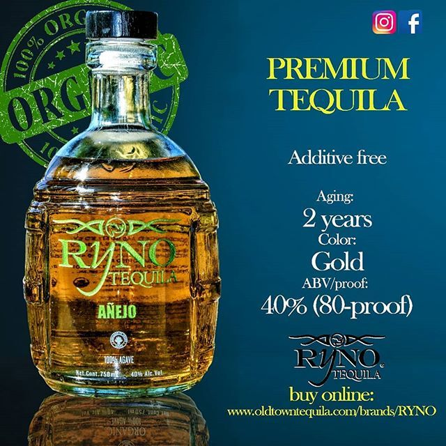 Ryno tequila Añejo  Additive free  Organic tequila   www.oldtowntequila.com/brands/Ryno   #rynotequila #grabonebythehorn  #qualityoverquantity #qualitytime #craftcocktails  #drinkgoodtequila #cocktails #drinking #drinks #tequila #additivefree #organic #happyhour  #mixology #drinkstagram #tequiero #sandiego  #losangeles #california #texas #lasvegas #NewYork #fashion #love #unitedstates #usa #dallas #houston #miami #new    #Regram via @rynotequila