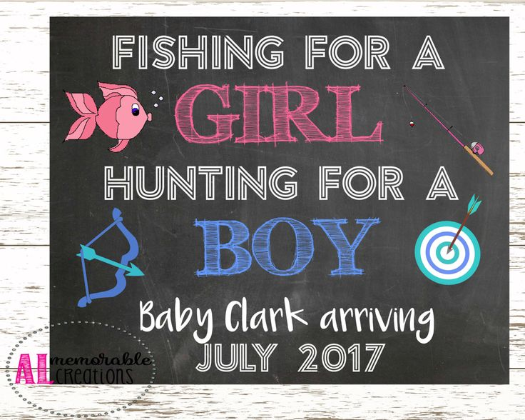 Pregnancy Announcement Photo Prop/New Baby Announcement/Fishing for Girl Hunting for Boy/Expecting A Baby/Pregnancy Chalkboard/Digital File by ALMemorableCreations on Etsy