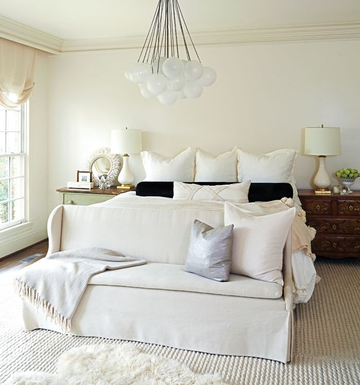 Elegant, white bedroom via Birmingham Home & Garden. #laylagrayce #bedroom