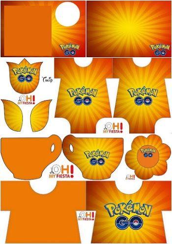 Pokemon Go:Invitaciones para Imprimir Gratis.