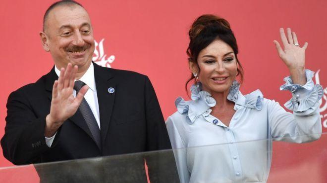İlham Aliyev ve eşi Mihriban Aliyev
