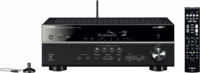 Yamaha - 700W 5.1-Ch. Network-Ready 4K Ultra HD and 3D Pass-Through A/V Home Theater Receiver - Black - Front Zoom