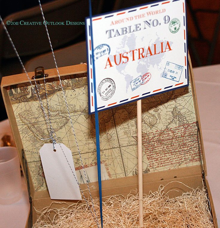 Best 25 travel centerpieces ideas on pinterest for Around the world party decoration ideas