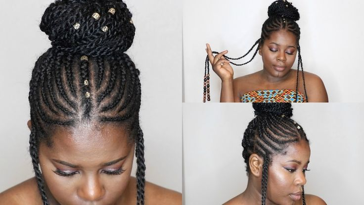 Easy Braids and Beads - Using Marley Hair Twist - Alicia Keys Inspired [Video] - https://blackhairinformation.com/video-gallery/easy-braids-beads-using-marley-hair-twist-alicia-keys-inspired-video/