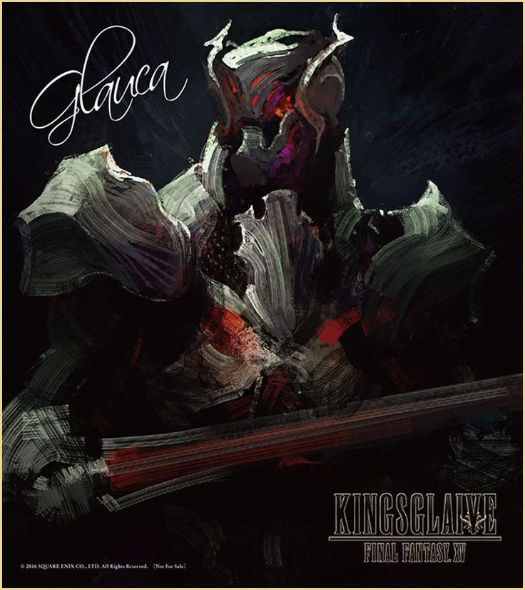 Final Fantasy 15 XV KINGSGLAIVE Glauca Mini Autograph Movie Limited NFS Game F/S