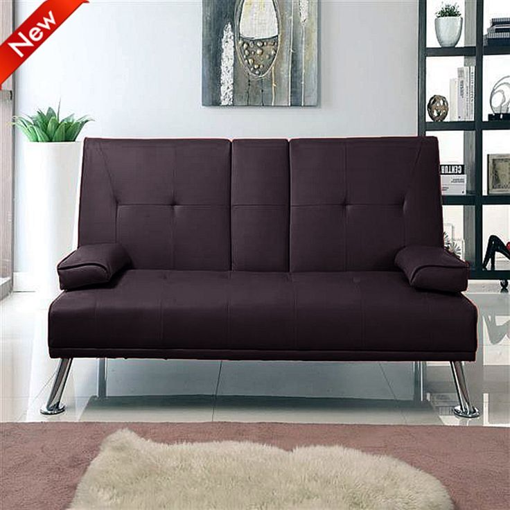 Cinema Style Futon Sofabed With Drinks Table Sofa Bed By Southern Beds Brown Furniture Pinterest Chrome And Pillows