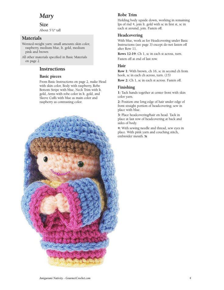 Amigurumi Nativity Free Pattern : Amigurumi Nativity - Tutorial 4U // hf Crochet Makes ...