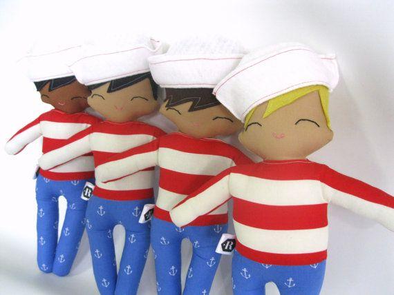 Sailor Jack  Sailor Boy Rag Doll  MADE TO от rileyconstruction