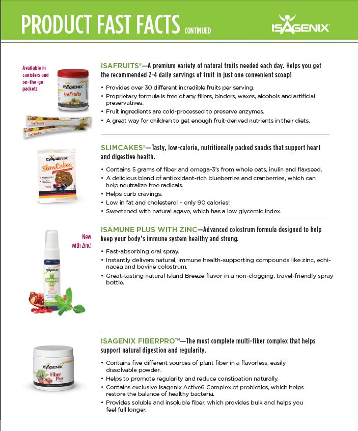 Best Product Fast Facts  Isagenix Images On   Facts