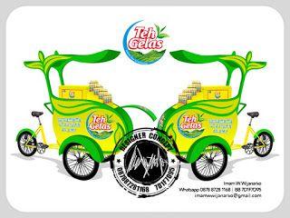Desain Logo | Logo Kuliner |  Desain Gerobak | Jasa Desain dan Produksi Gerobak: Desain Gerobak Sepeda Teh Gelas