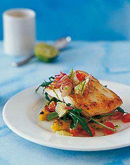 Steinbutt mit Tomaten-Limetten-Salsa - Rezepte - [LIVING AT HOME]