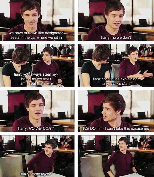 pinterest || ☽ @kellylovesosa ☾ hahahahaha awww<<<Liam's gave in the end warms my heart so much.