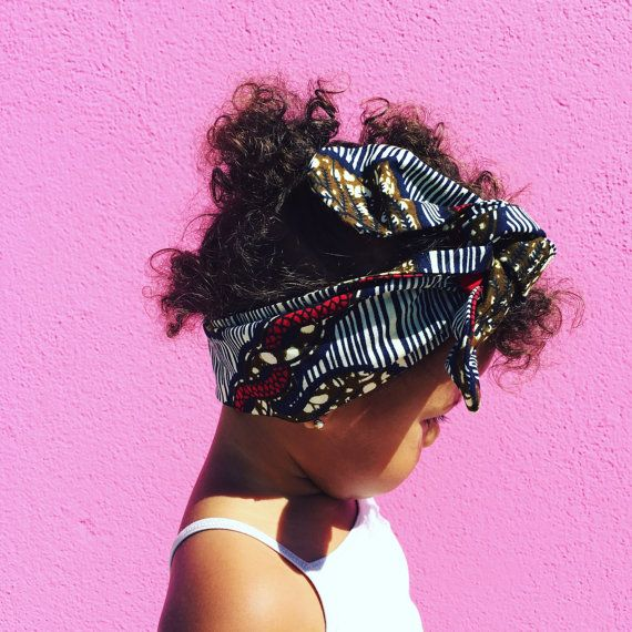 Baby Girl Headwrap Turban African Ethnic Geo by littlelolabunny