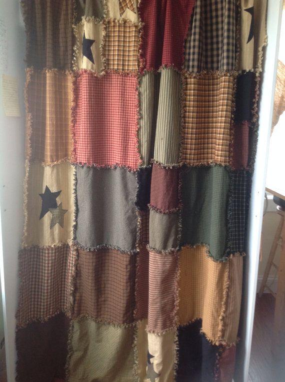 17 Best images about Primitive shower curtain on Pinterest | Black ...