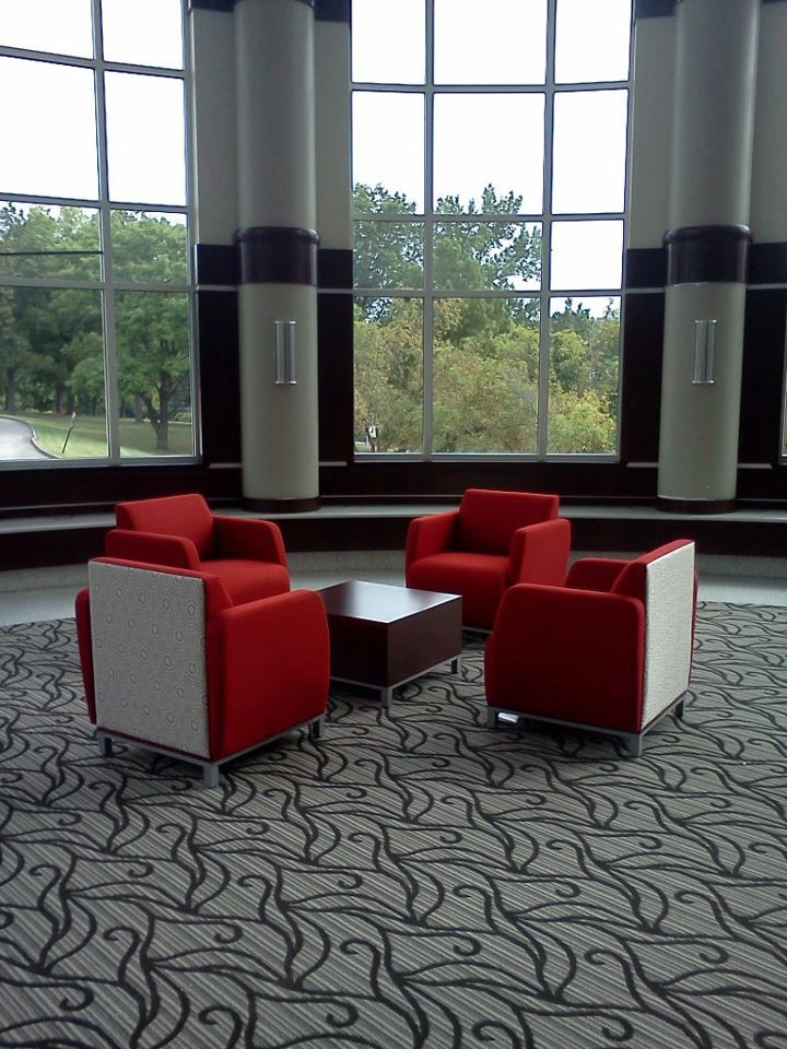 Chaminade College Preparatory School (St. Louis, MO) Swift lounge seating in collaborative/open space area. #NationalOffice #FurnitureWithPersonality