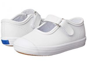 Keds Kids Champion Toe Cap Mary Jane (Infant/Toddler) (White Leather) Girls Shoes