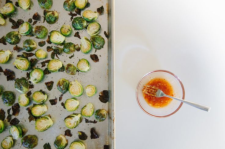 Roasted Brussel Sprouts with Sweet Chili | Snack Ideas | Pinterest