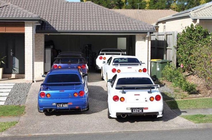 Nissan Skyline GTR R34---- want one and this dude has five. I see how it is...