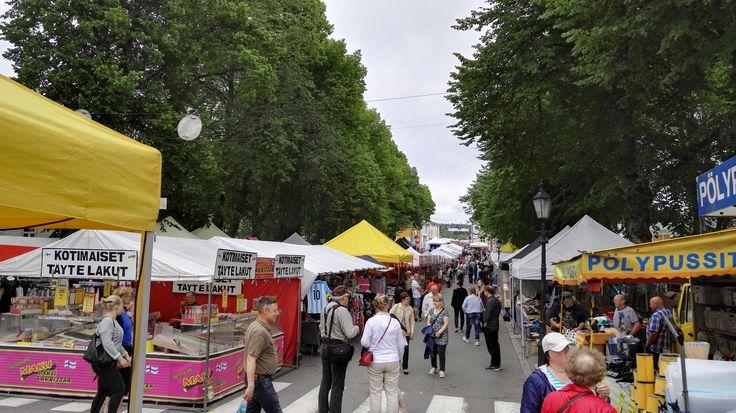 Summer market in Kristiinankaupunki