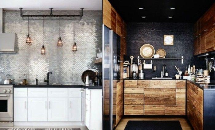 Deux exemples de petite cuisine bien aménagée