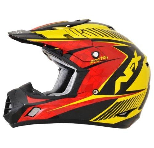 Afx Fx-17 Helmet Fx17 Comp Rd/yl Sm 0110-4559, Black