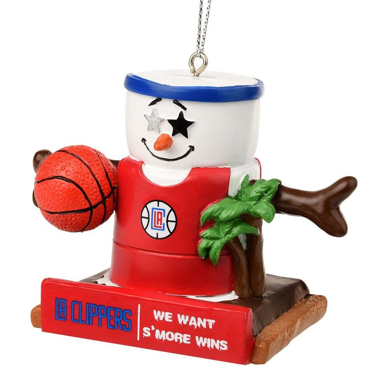 Forever Collectibles Los Angeles Clippers S'more Snowman Christmas Ornament, Multicolor