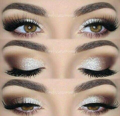 Eye makeup :: Uma maquiagem para festas neutra, com um super cílios.
