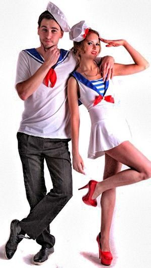 déguisement de couple marin, un classique pour se la couler douce :)