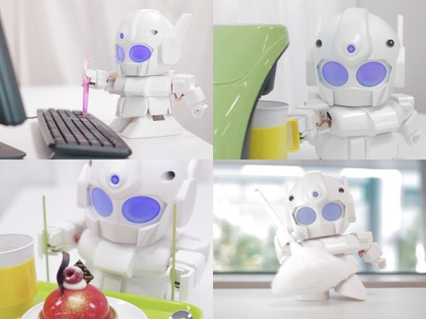 "Raspberry Pi-powered robot Rapiro - ""Rapiro development kit comes with 12 servo motors to enable movement... 3D printer customization possible if kickstarter campaign is a success - via digital spy (Rapiro Kickstarter page: http://www.kickstarter.com/projects/shota/rapiro-the-humanoid-robot-kit-for-your-raspberry-p :)"