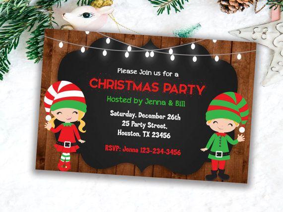 Christmas invitations, Party Invitations, Printable Invitations, Xmas Invitations, Holiday Invitatio
