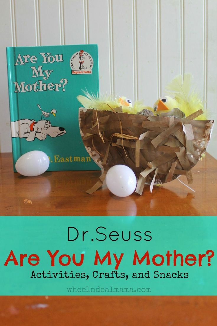 Dr. Seuss: Are You My Mother?  Snacks, Activities and Crafts, Part 1: Snacks #ArtsandCrafts