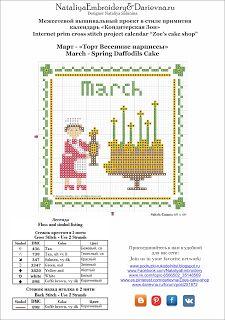 Подружки-рукодельницы: Zoe's Cake Shop - March - Spring Daffodils Cake