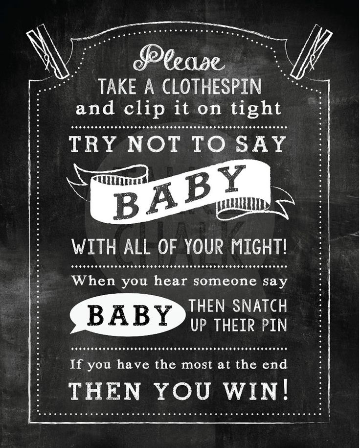 photograph about Don T Say Baby Free Printable called Dont Say Boy or girl Shower Sport PRINTABLE Kid Shower as a result of