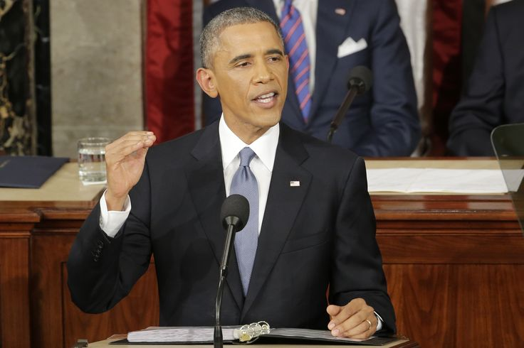 Obama draws line on climate, says US will lead the world on protecting environment State of the Union address January 2015